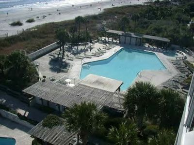 Roof View - Pool, Deck, Beach and Ocean. Its all right there & close !!!