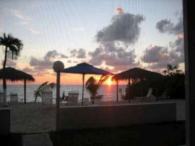 Awesome Sunset Views from inside screened in patio