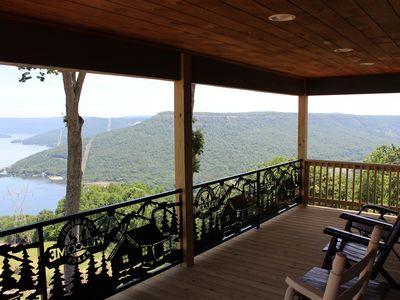 Photo for INDOOR POOL! AWESOME VIEW!  HOT TUB, FIREPLACE, FIRE PIT!  Chatt. TN 21 miles