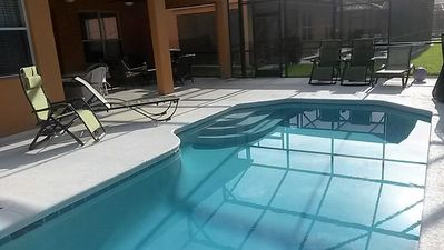 Side view of pool