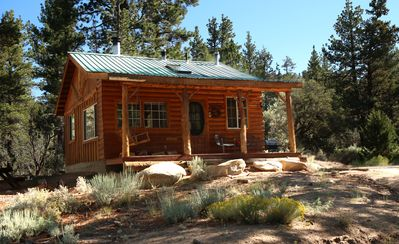 Photo for Secluded honeymoon cottage -off grid luxury!