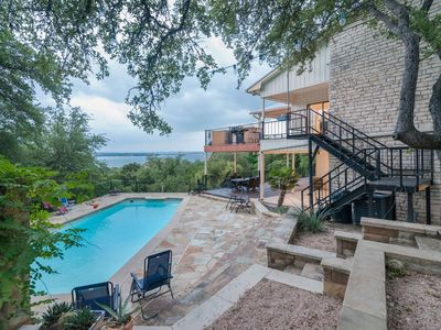 Photo for New - Family Fun Vacation Home w/ Amazing View, Pool, Hot Tub, Basketball Court and 2 spacious decks