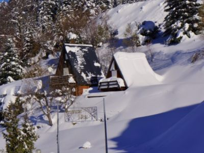 Photo for Mountain chalet at the foot of the ski slopes in the heart of the resort