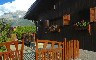 Photo for Chamonix Valley chalet in quiet location with sunny garden and open views