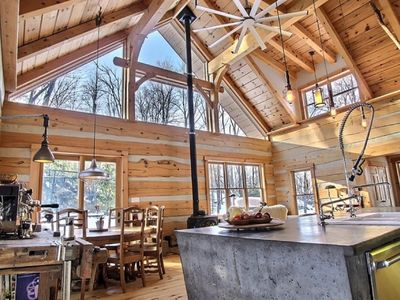Photo for Luxury Cabin in The Woods. Large logs - Timberframe  (20min) to Ottawa