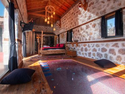 Photo for Villa Pavruka Honeymoon Suite Wood and Stone Building With Indoor Swimming Pool