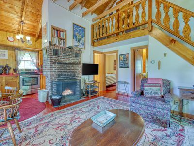 Photo for Dog-friendly & charming mountain chalet w/ fireplace