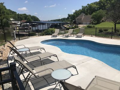 Photo for Waterfront large home with private pool and dock
