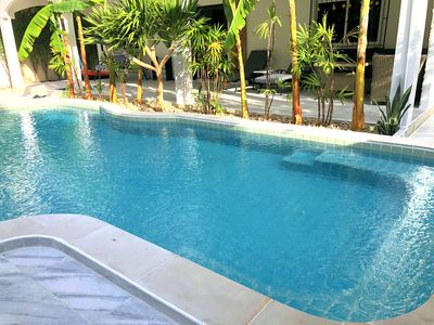 Photo for Villa private pool, pool table, dartboard, games. Quick access to walking street