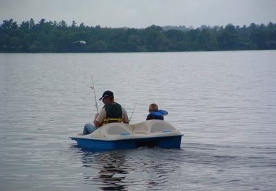 Complementary paddle boat and life jackets