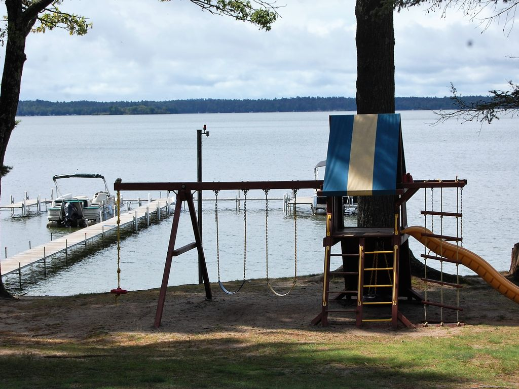 Waterfront Cabin With Outdoor Bar Big St Germain Lake
