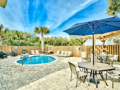Photo for Steps from the Beach! Gulf Views! Private Pool! Executive Access Home!