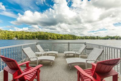 Enjoy the view from boathouse deck