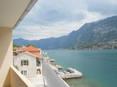 Photo for Penthouse apartment with spectacular  views of  Kotor Bay