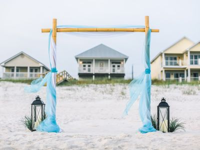 Photo for Beachfront! Small Weddings/Groups - 5 Bedroom Beach House with Game Room/Pool