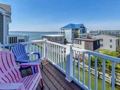 Photo for Awesome Waterfront Family Beachouse w/Garage;Walk 2Beach-Food-Rides-Boardwalk