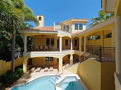 Photo for 7 Bedroom, Mediterranean Home just 500 Feet Away from the Beach! Belle Bellini