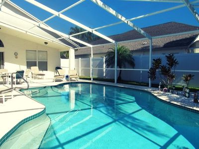 Photo for Stunning villa with own private pool. Very close to Disney. Free BBQ.