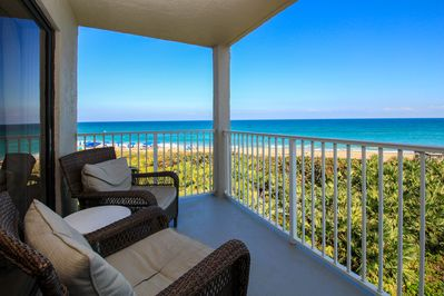 Enjoy taking in the view and listening to the waves from your private balcony