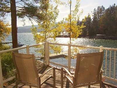 Photo for Waterfront Flathead Lake Home(not condo)~ Decks~ Dock~Quiet Neighborhood