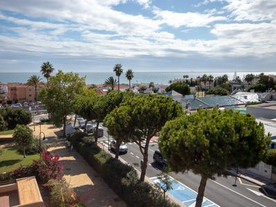 Photo for Penthouse in La Cala with large terrace and sea views