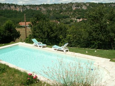 Photo for NID DOUILLET, SWIMMING POOL, EXCEPTIONAL VIEW ON FALAISES AND VALLEY ...