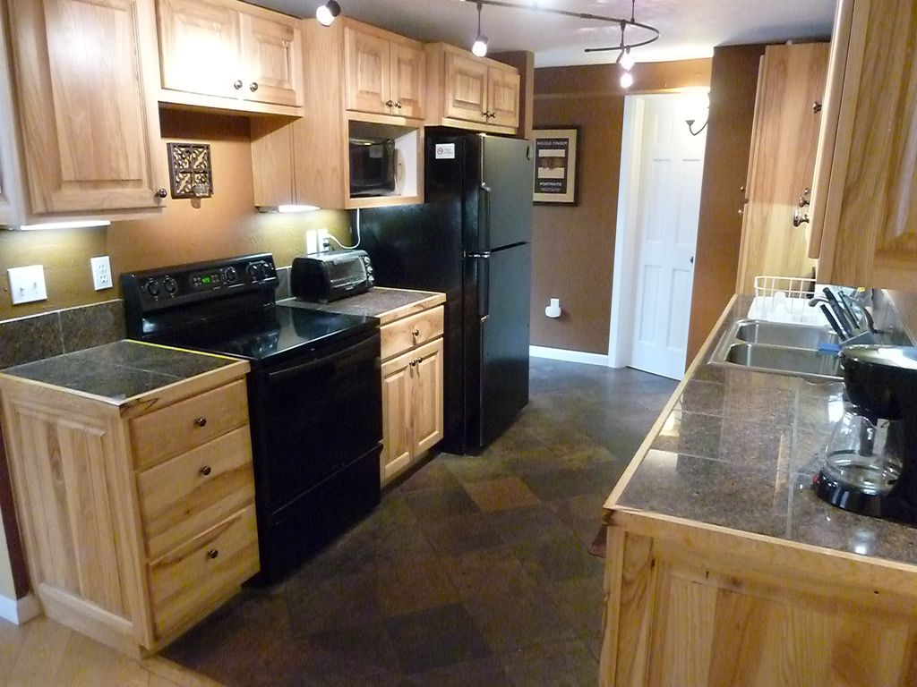 Well equipped kitchen for preparing meals. Plenty of counter space.