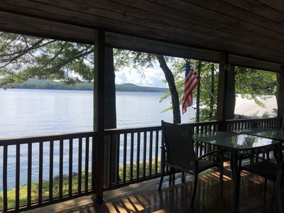 Photo for Lake Winnipesaukee, Spectacular Views, Deep Water Covered Dock, Amazing Porch.