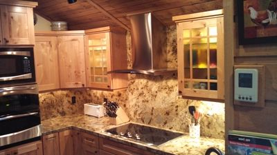 New Kitchen   Rustic Alder Cabinets, Double Oven, Microwave, Cooktop