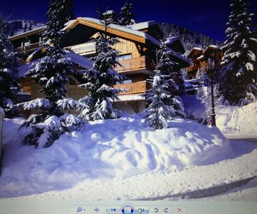Photo for Very cozy apartment exceptional view in a small chalet near the slopes