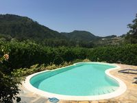 Wonderful house with terrace and amazing pool, overlooking rolling hills