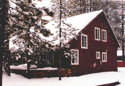 Winter view of house