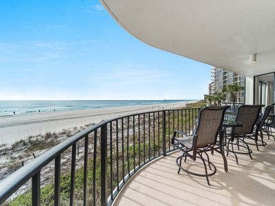 Photo for New Listing! Luxury condo w/180 degree views of the ocean! Par-3 Golf, 11 pools!