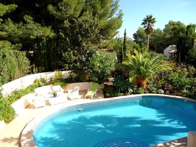 Photo for 6 persons spacious villa with private pool and lots of space.