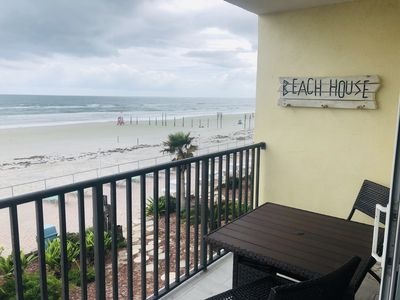 Photo for 1BR Ocean Front Condo w/ Private Beach Access