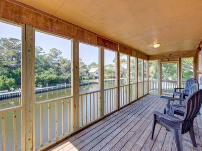 Photo for 2 bed, 2 bath canal front Frisco home 3 Night Stays! KAYAKS & BIKES INCLUDED!