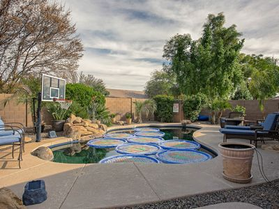 Photo for Lovely home w/ backyard oasis- private pool, hot tub, and covered patio