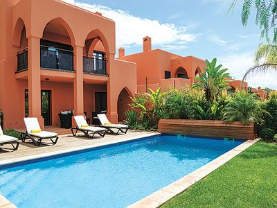 Photo for Modern resort villa w/ private pool, tennis courts + covered balcony