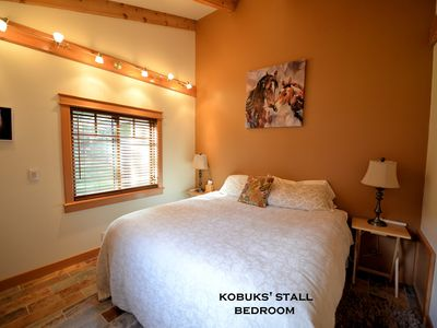 "Photo for CARRIAGE HOUSE COTTAGE ~""KOBUK'S STALL"" ~ HOT TUB ~ ACROSS FROM DOUBLE MUSKY"