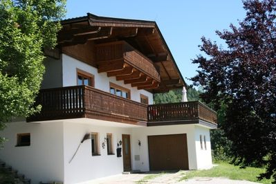 the chalet in the glorious summer sun