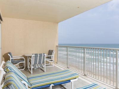 Photo for Beachfront Condo! Great Ocean Views! Shared Pool & Hot tub where you can Relax by the Wind & Waves!
