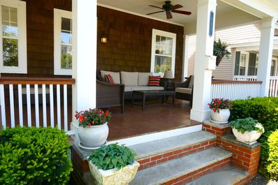 Our large front porch is your window to Asbury Park.