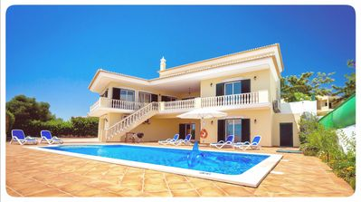 Photo for Stylish Villa with Pool, Games Room, elevated views to the Sea - 2km to beach