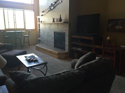 New gas fireplace, lots of space and light