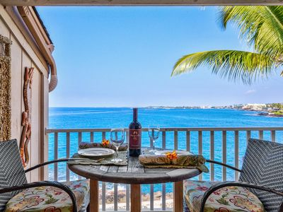 Photo for OCEANFRONT | Top Floor Luxury Overlooking Kailua Bay | Walk to Town! | Starts at $129/Nt