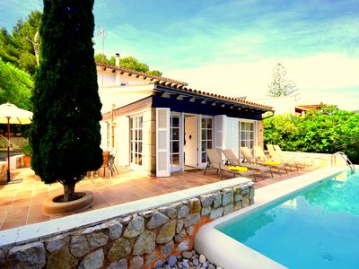 Photo for Fantastic villa Cala Padri with sea view and private pool in d.