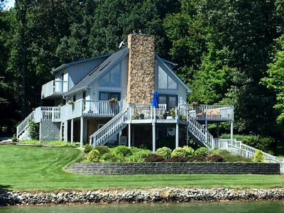 Photo for Family-friendly/Huge Dock/No Wake Cove/Kayaks/Mountain View/Fire Pit/Wifi/Games