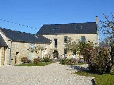 Photo for Bazenville: Renovated farm in the middle of a beautiful garden close to the sea in the middle of