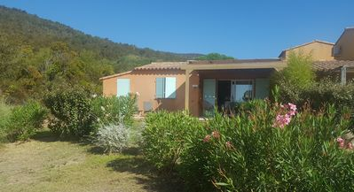 Photo for Beautiful 2 bedroom villa with pool on the doorstep of Palombaggia beach