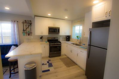 Newly updated, open concept kitchen